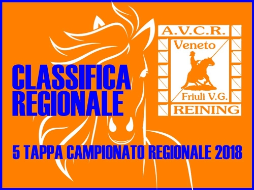 Classifica regionale dopo la 5 tappa AVCR 2018